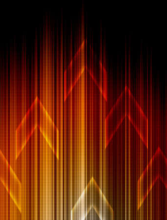 Abstract Orange technology background. Stock Photo - 11109768