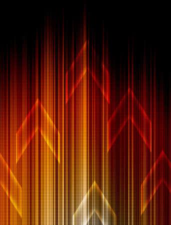 Abstract Orange technology background. Stock Photo - 11109768