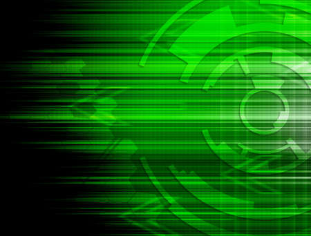 Abstract green technology background. photo