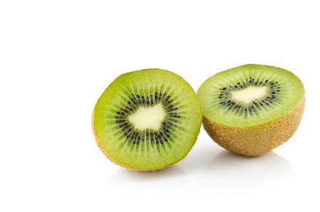 Juicy Kiwi fruit on a white background.
