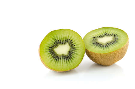Juicy Kiwi fruit on a white background.