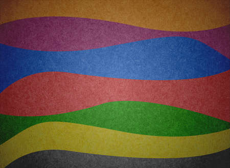 Grunge multicolored stripes recycled paper craft background. photo