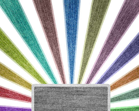 Creativity grunge multicolored stripes jean background. photo