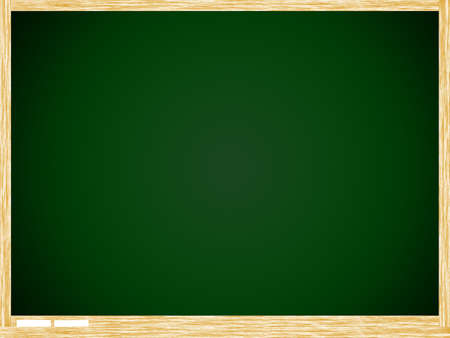 Empty Green board with wooden frame isolate on white background. photo