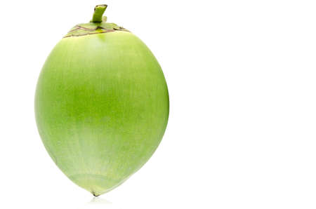 Green coconut Fruit isolated on white background. Stock Photo