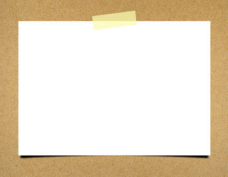 Blank note paper on board background photo