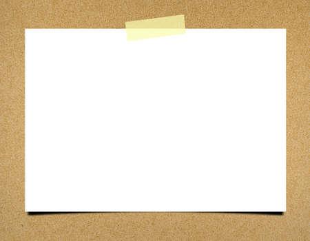 Blank note paper on board background Archivio Fotografico