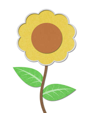 Sunflower recycled paper craft photo