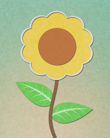 Sunflower recycled paper craft Stock Photo - 11269586