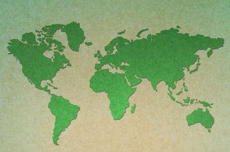 vintage world map green  background