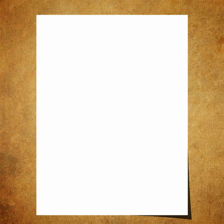 Blank note paper on old board background photo