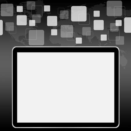 blank tablet computer photo