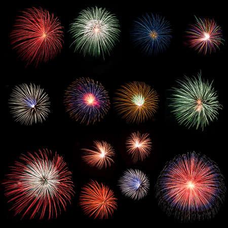 Long Exposure of Fireworks