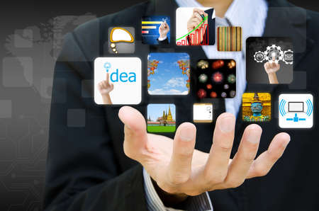 businessman hand holding image business collection photo
