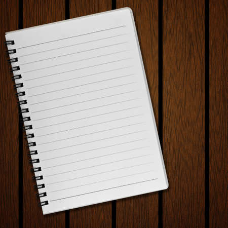 old notebook: Blank notebook on old wood background