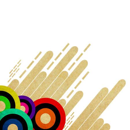bauhaus: Abstract paper layout design Stock Photo