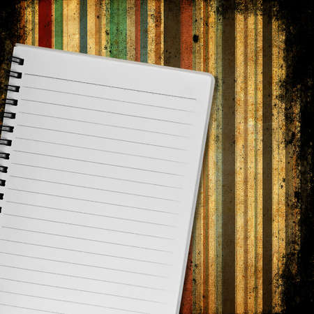 Old Notebook Paper Background Blank Notebook on Old Paper