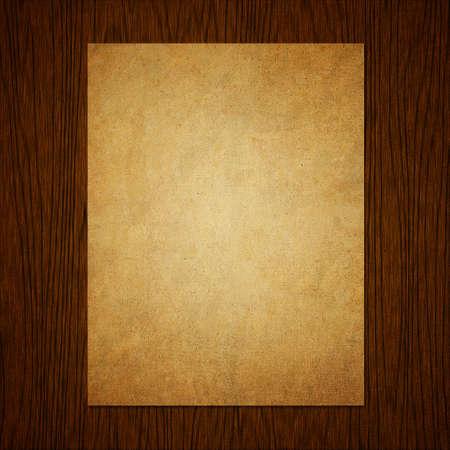 Paper on grunge wood texture background Archivio Fotografico