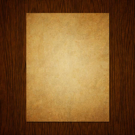 Paper on grunge wood texture background Stock Photo