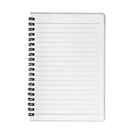 scribbling: Blank notebook isolated on white Stock Photo