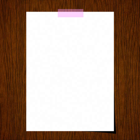 Blank paper on old wood background photo