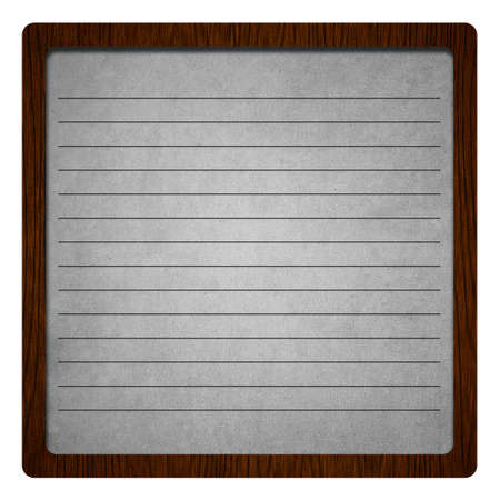 antiqued: old paper with wooden frame Stock Photo
