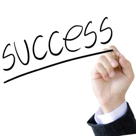 hand write a success word Stock Photo - 19307525