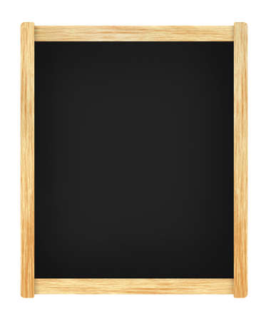 Empty menu board with wooden frame photo
