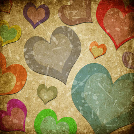 Grunge heart paper background photo
