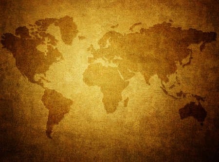 Grunge paper with map background