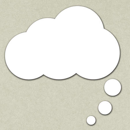 to think: Blank speech bubble for text