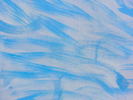 ah: Painting blue paint on the walls