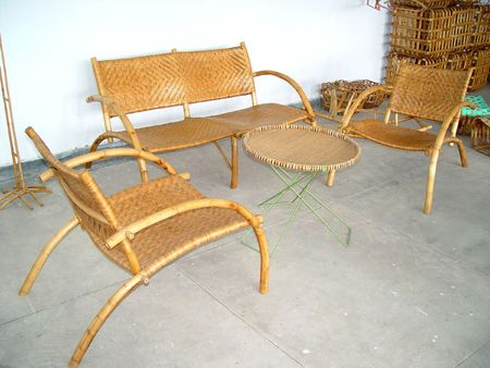 cane sofa: Bamboo Furniture