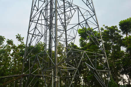 Close up of a mobile tower in India, selective focusing 版權商用圖片