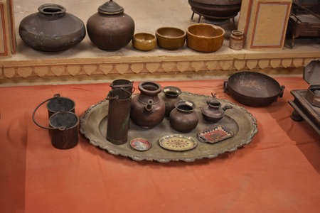 copper made utensils of mughal period