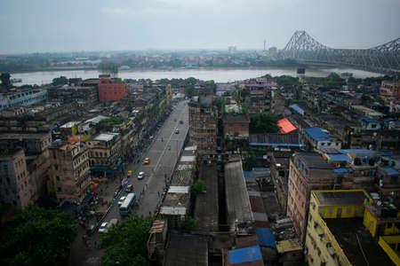 skyline view of kolkata city