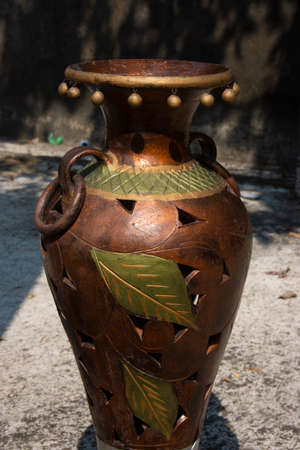 flower vase made of clay by folk people of west bengal