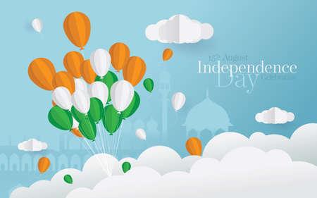 15th August Indian Independence Day Celebration Background Design Illustration