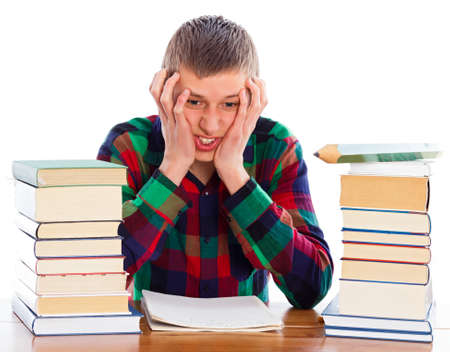 essay: Hopeless situation, the essay wont be ready in time. Stock Photo