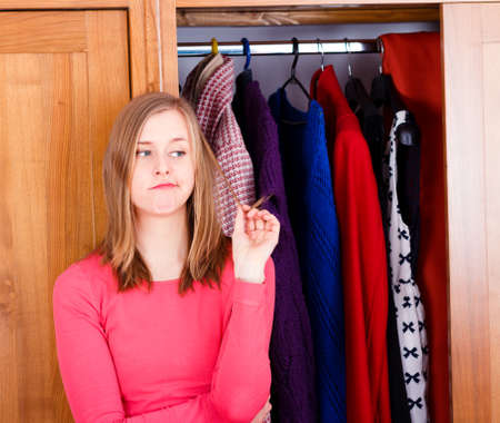 woman closet: Women Stock Photo