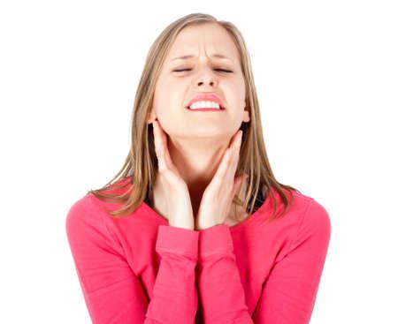 sore throat: Severe parotid gland pain from otitis.