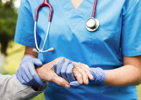 Professional care for elderly at nursing homes.