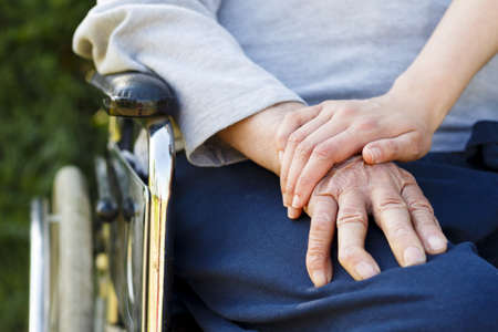 Image representing the lifestyle of a senior man in wheelchair.