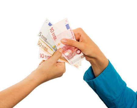 favorable: Bank offering really favorable loan for clients. Stock Photo