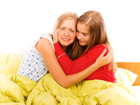 adult crying: A great friend is always a support in hard moments. Stock Photo