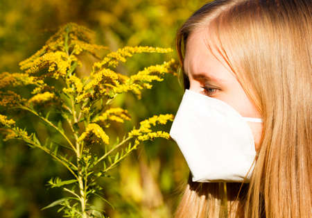 allergic: Common bad allergy to ragweed pollen.