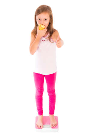conscious: Conscious little girl living a healthy, fat free lifestyle.