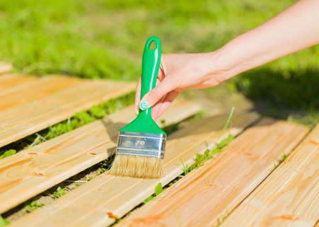 obtain: To obtain varnished wooden board by applying protective varnish.