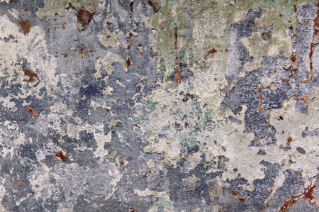 background, old concrete wall with peeling paint