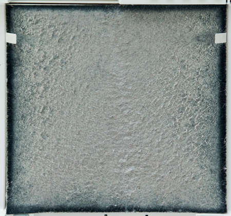 contaminated, used carbon filter for cleaning air from dust and allergens.
